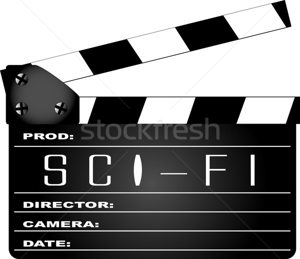 Science Fiction Clapperboard Stock photo © Bigalbaloo