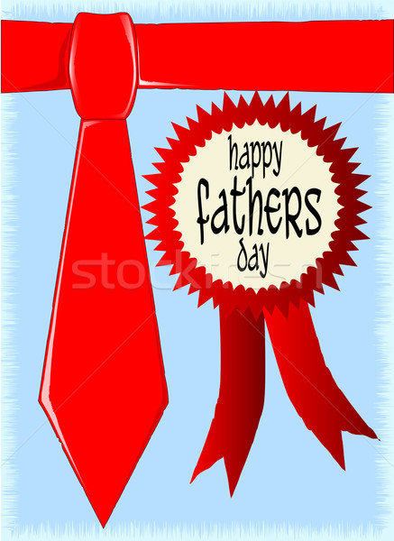 Happy Fathers Day Rosette Stock photo © Bigalbaloo