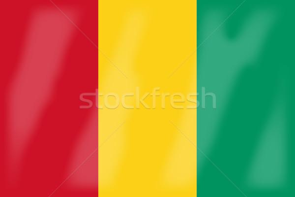 Guinea zászló afrikai vidék Afrika Stock fotó © Bigalbaloo