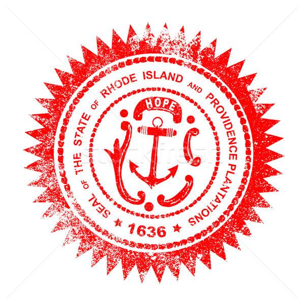 Rhode Island Rubber Stamp Stock photo © Bigalbaloo