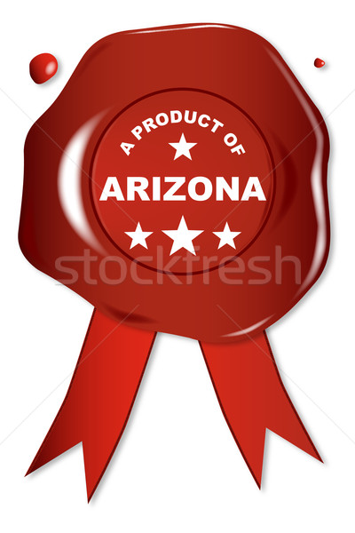 製品 アリゾナ州 ワックス シール 文字 赤 ストックフォト © Bigalbaloo