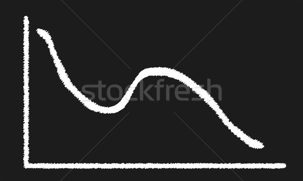 ダブル ディップ 黒板 グラフ チョーク ストックフォト © Bigalbaloo