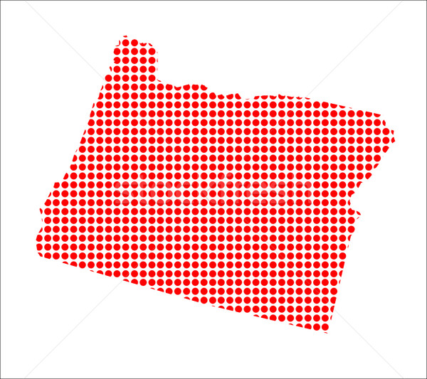Red Dot Map of Oregon Stock photo © Bigalbaloo