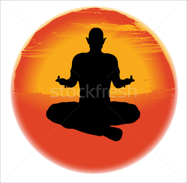 The Sukhasana Pose Stock photo © Bigalbaloo