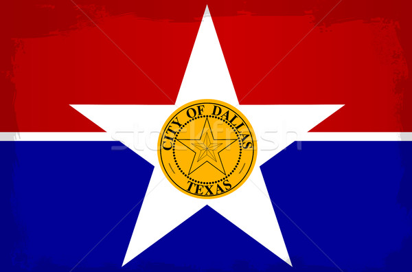 Dallas stad vlag tekening Texas Stockfoto © Bigalbaloo