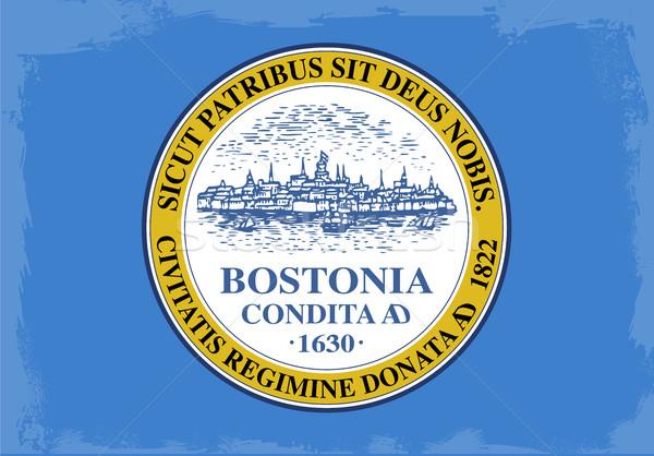 Бостон город флаг рисунок Массачусетс Сток-фото © Bigalbaloo