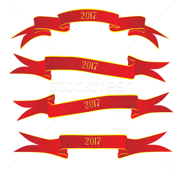 Banner For 2017 Stock photo © Bigalbaloo
