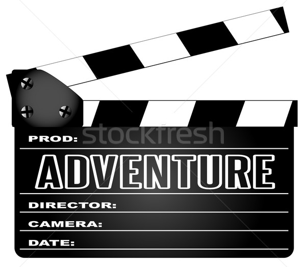 Adventure Movie Clapperboard Stock photo © Bigalbaloo