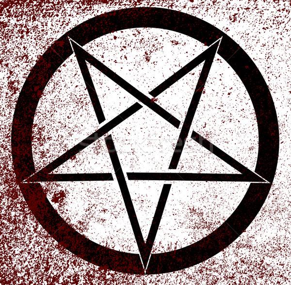 Pentagram Stock photo © Bigalbaloo