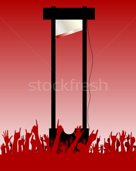 The Guillotine Machine Stock photo © Bigalbaloo