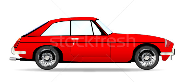 Spor araba coupe kırmızı geleneksel İngilizler stil Stok fotoğraf © Bigalbaloo