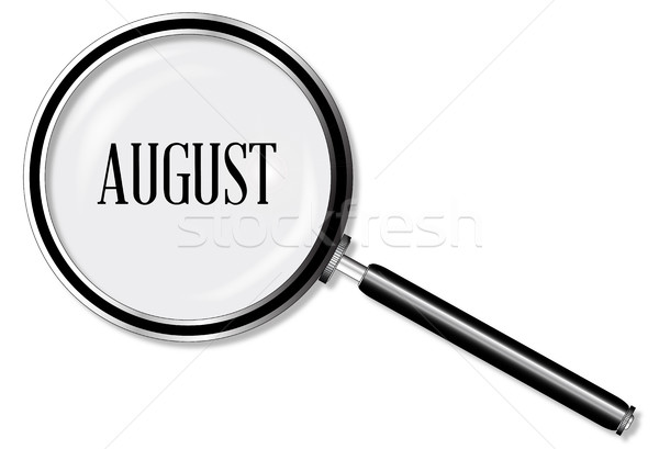 August Magnifying Glass Stock photo © Bigalbaloo