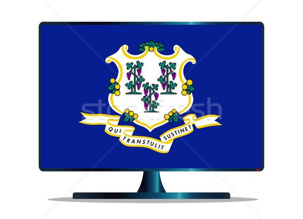 Bandeira tv tela do computador computador monitor mac Foto stock © Bigalbaloo