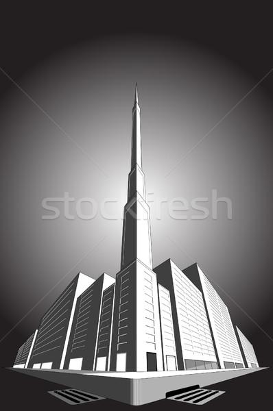 Kantoor verdwijnpunt stad perspectief gebouwen Stockfoto © Bigalbaloo