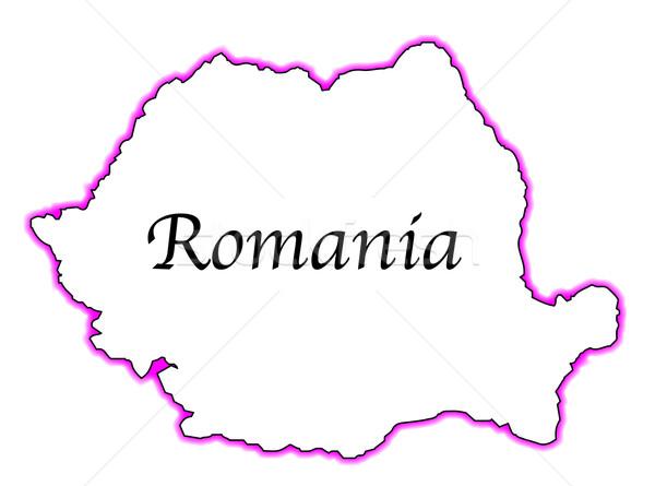 Roumanie carte blanche art graphique Photo stock © Bigalbaloo