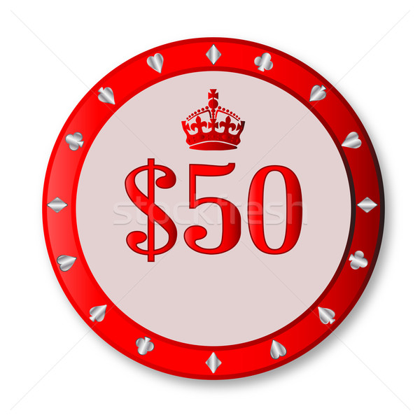 50 Dollar Chip Stock photo © Bigalbaloo