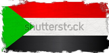 Szudán zászló afrikai vidék Afrika Stock fotó © Bigalbaloo