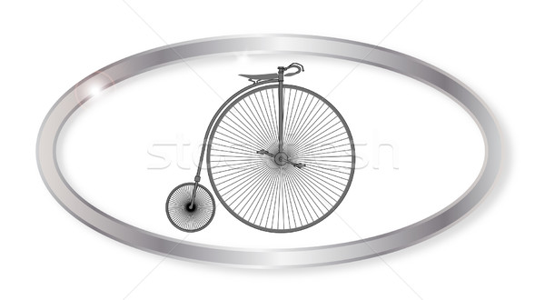 пенни овальный кнопки серебро велосипед изолированный Сток-фото © Bigalbaloo