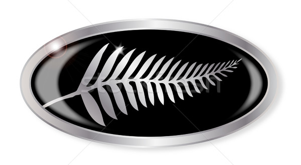 New Zealand Silver Fern Button Stock photo © Bigalbaloo