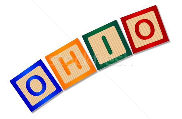 Ohio cartas coleção ortografia branco Foto stock © Bigalbaloo