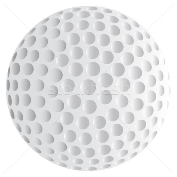Stock fotó: Izolált · golflabda · fehér · golf · rajz · játék