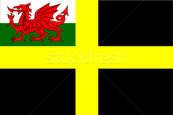 Flag of Saint David Stock photo © Bigalbaloo