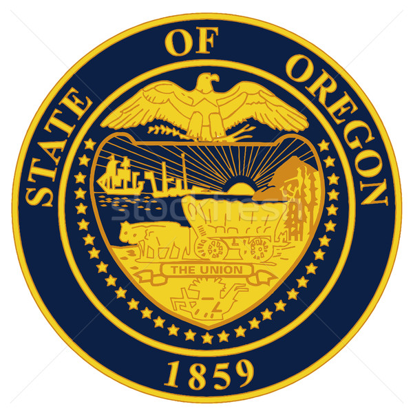Oregon mühürlemek örnek beyaz grafik Stok fotoğraf © Bigalbaloo