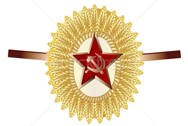 Oficial boné distintivo russo exército Foto stock © Bigalbaloo