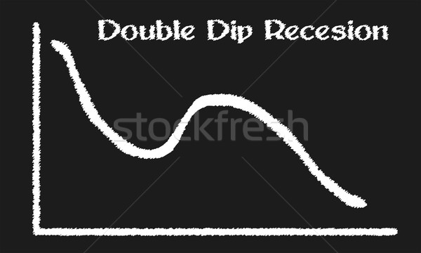 Double Dip Recesion Stock photo © Bigalbaloo