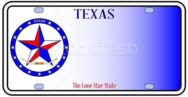 Texas automático placa vermelho branco azul Foto stock © Bigalbaloo