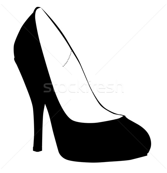 Stiletto Heel Silhouette Stock photo © Bigalbaloo