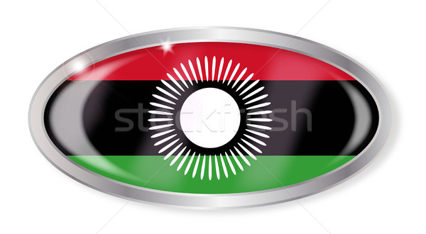 Malawi Flag Oval Button Stock photo © Bigalbaloo