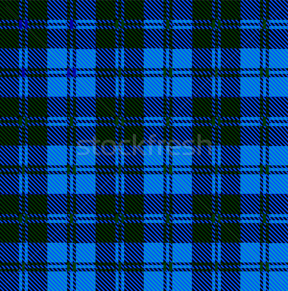 Blue Tartan Wool Material Stock photo © Bigalbaloo