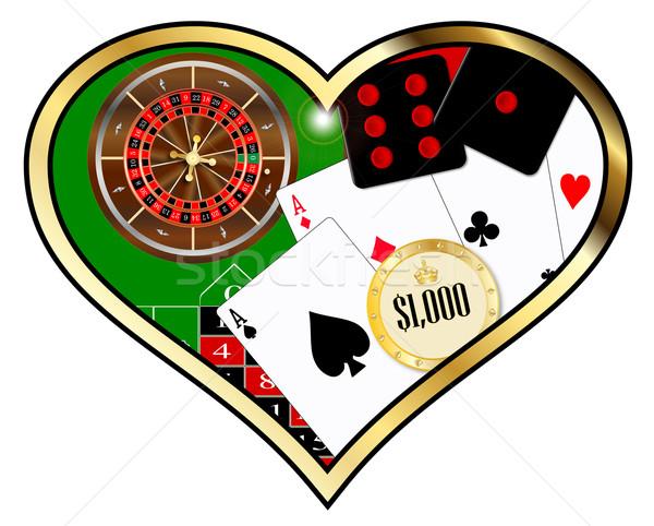 любви игорный типичный американский рулетка таблице Сток-фото © Bigalbaloo