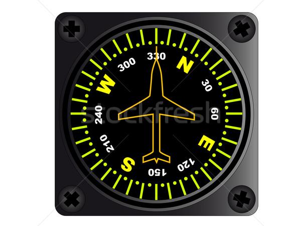Aircraft Compass Stock photo © Bigalbaloo