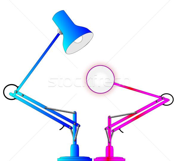 Anglepoise Lighting Lamps Stock photo © Bigalbaloo