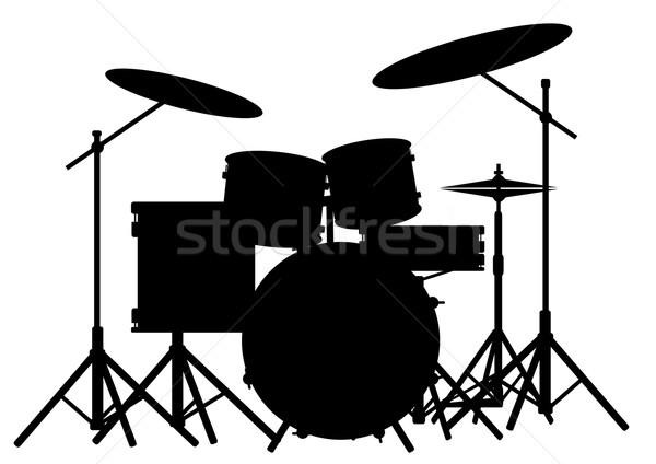 Drum Kit Stock photo © Bigalbaloo