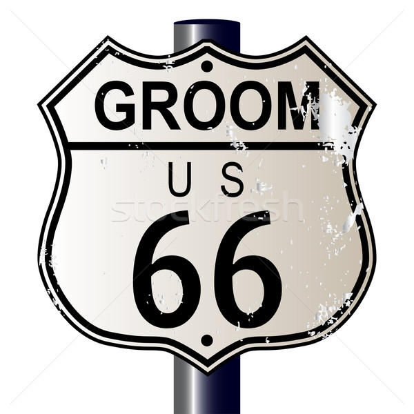 Groom Route 66 Sign Stock photo © Bigalbaloo