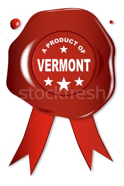 Producto Vermont cera sello texto rojo Foto stock © Bigalbaloo