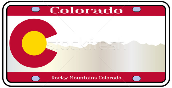 Colorado Rocky Mountain Plate Stock photo © Bigalbaloo