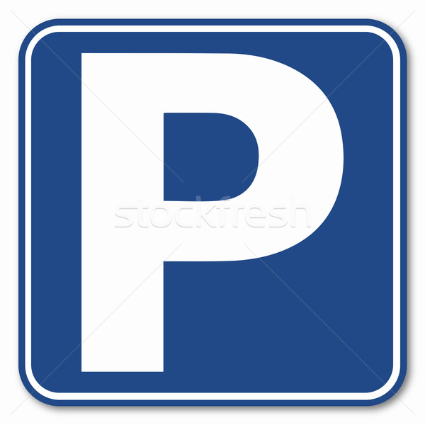 Blue Parking Sign Stock photo © Bigalbaloo