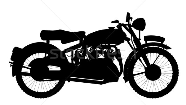 Motor Cycle Silhouette Stock photo © Bigalbaloo