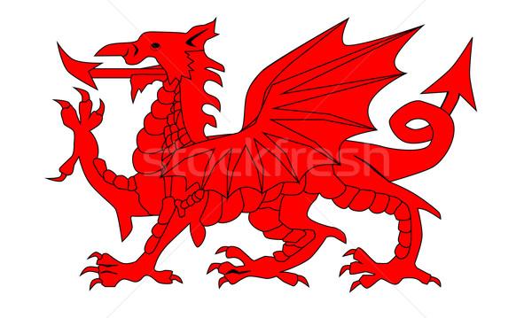 Welsh Dragon Stock photo © Bigalbaloo