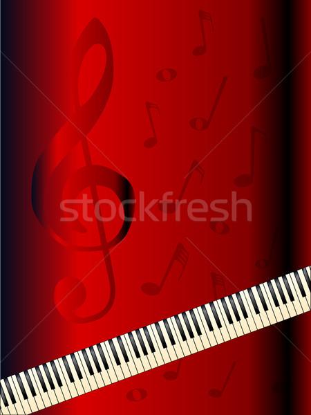 Old Piano Background Stock photo © Bigalbaloo