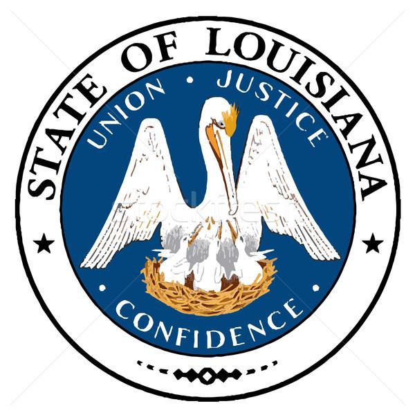 Louisiana sigillo bianco disegno Foto d'archivio © Bigalbaloo