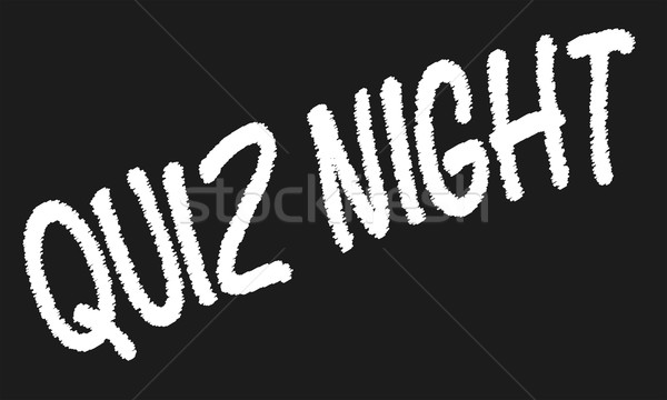 Quiz Night Blackboard Stock photo © Bigalbaloo