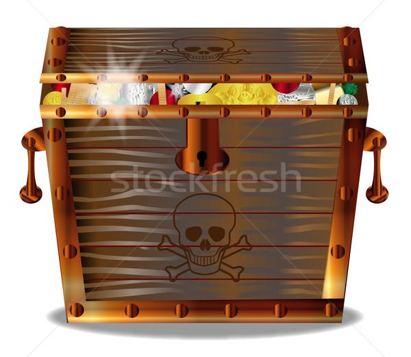 Stock photo: Full Pirates Treasure Chest
