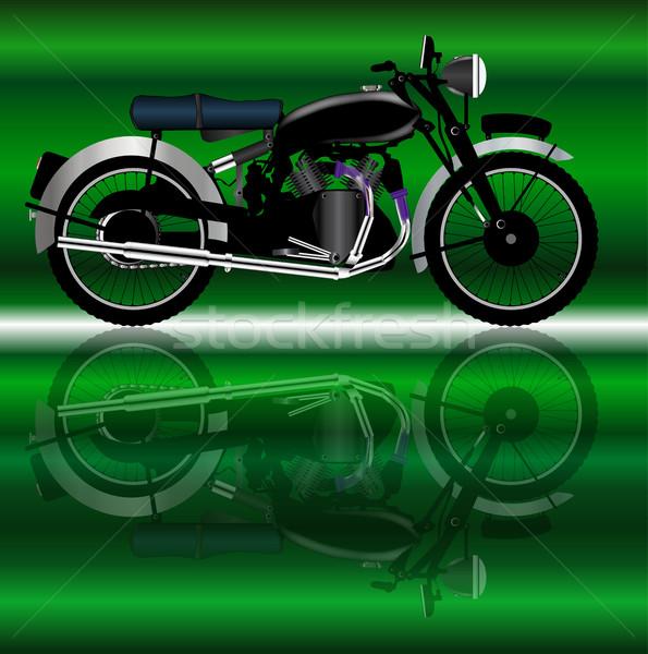 классический Motor цикл стиль отражение мотоцикл Сток-фото © Bigalbaloo
