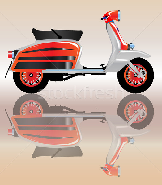 Mod Scooter Reflection Stock photo © Bigalbaloo