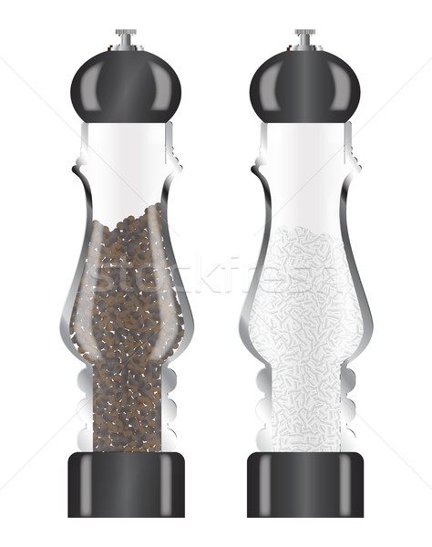 Glass Salt And Pepper Stock photo © Bigalbaloo